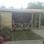 Veranda met plat dak
