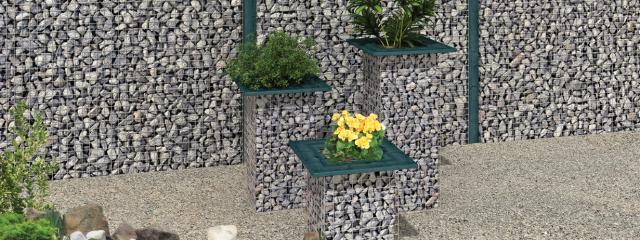 Steenkorven/betonpaal